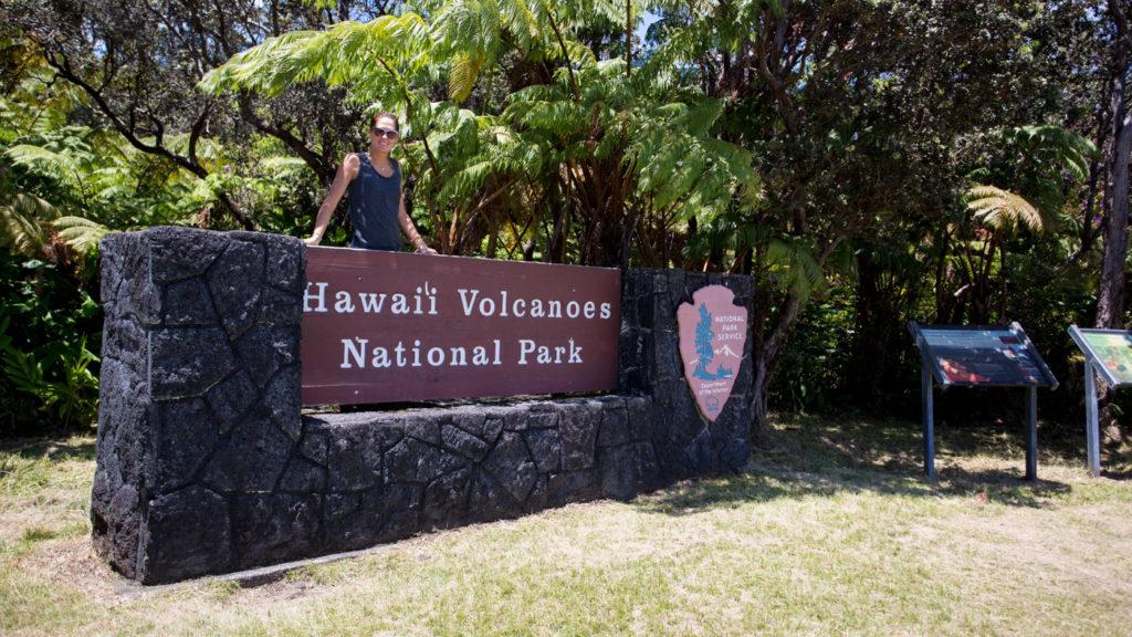 Entree du Park National Mauna Loa à Big Island