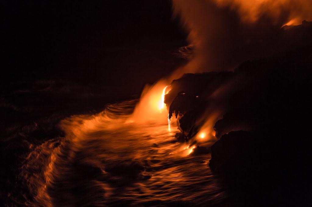 Vue depuis la falaise en bord de mer.