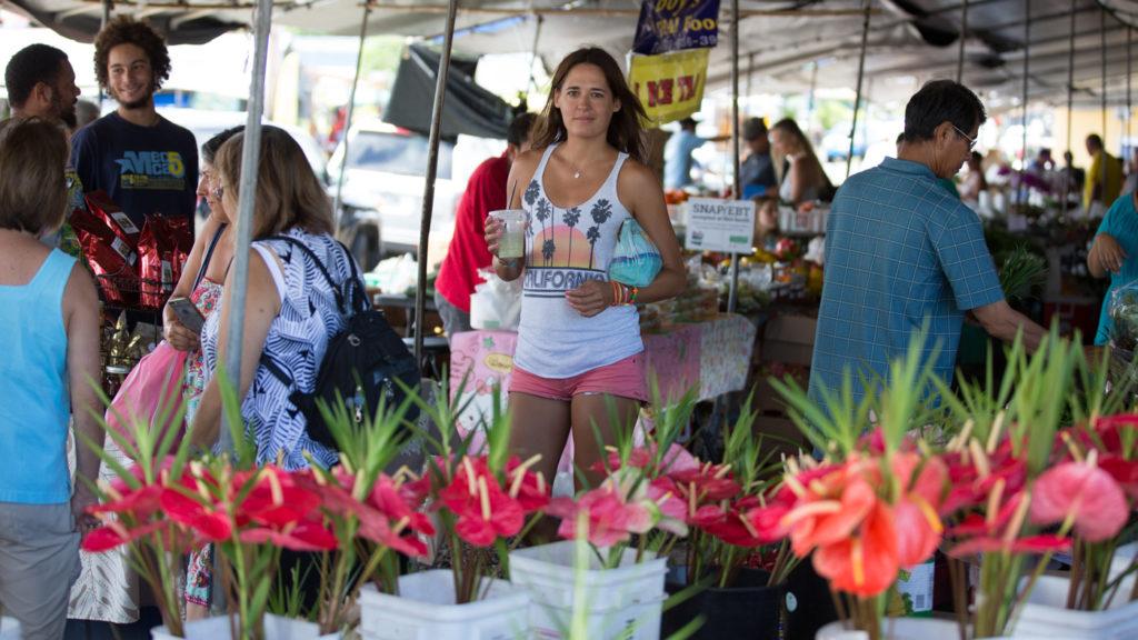 La marché de Hilo à Big Island