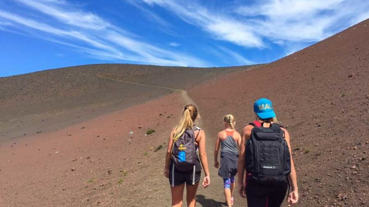 Randonnée dans le volcan Haleakala