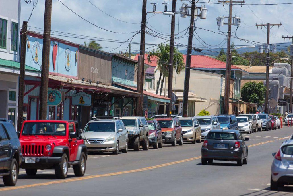 le village de Paia, boutiques et restaurants