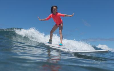 La découverte du surf avec Tyler Larronde